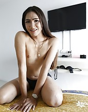 24yo Thai shemale gets a facial after sucking off white cock - Oom1
