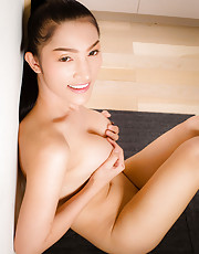 Wow - Moay has come a long way in a year! This beatiful Asian tgirl has an amazing body, big perky boobs, a firm ass and a delicious cock! See this transgirl hottie stripping and stroking her dick for you!