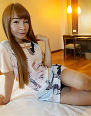Young Ladyboy In Panties returns for her second scenes wearing high heels and lace.