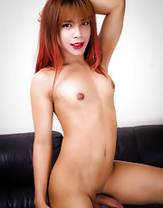 Rose is a gorgeous tgirl with a smoking hot slim body, pretty face, natural breasts and a delicious cock! See this stunning transgirl spreading her cheeks and stroking her big hard cock!