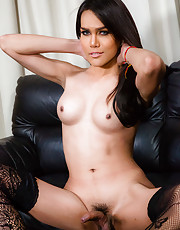 Whiskey is a gorgeous Thai tgirl with an amazing body, big tits, a nice ass and a rock hard cock! See this pretty transgirl masturbating and cumming!