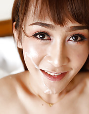 Mos - 21 year old sexy Thai ladyboy gets big facial from BWC